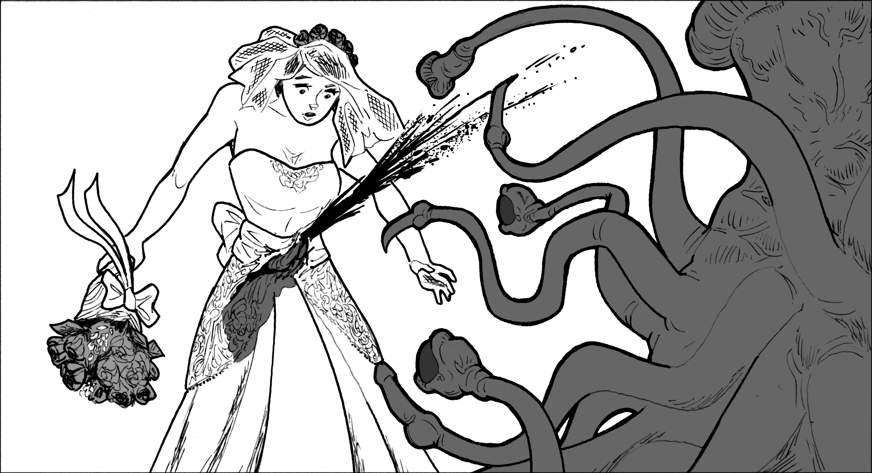 Bad tentacle monster.  Bad!