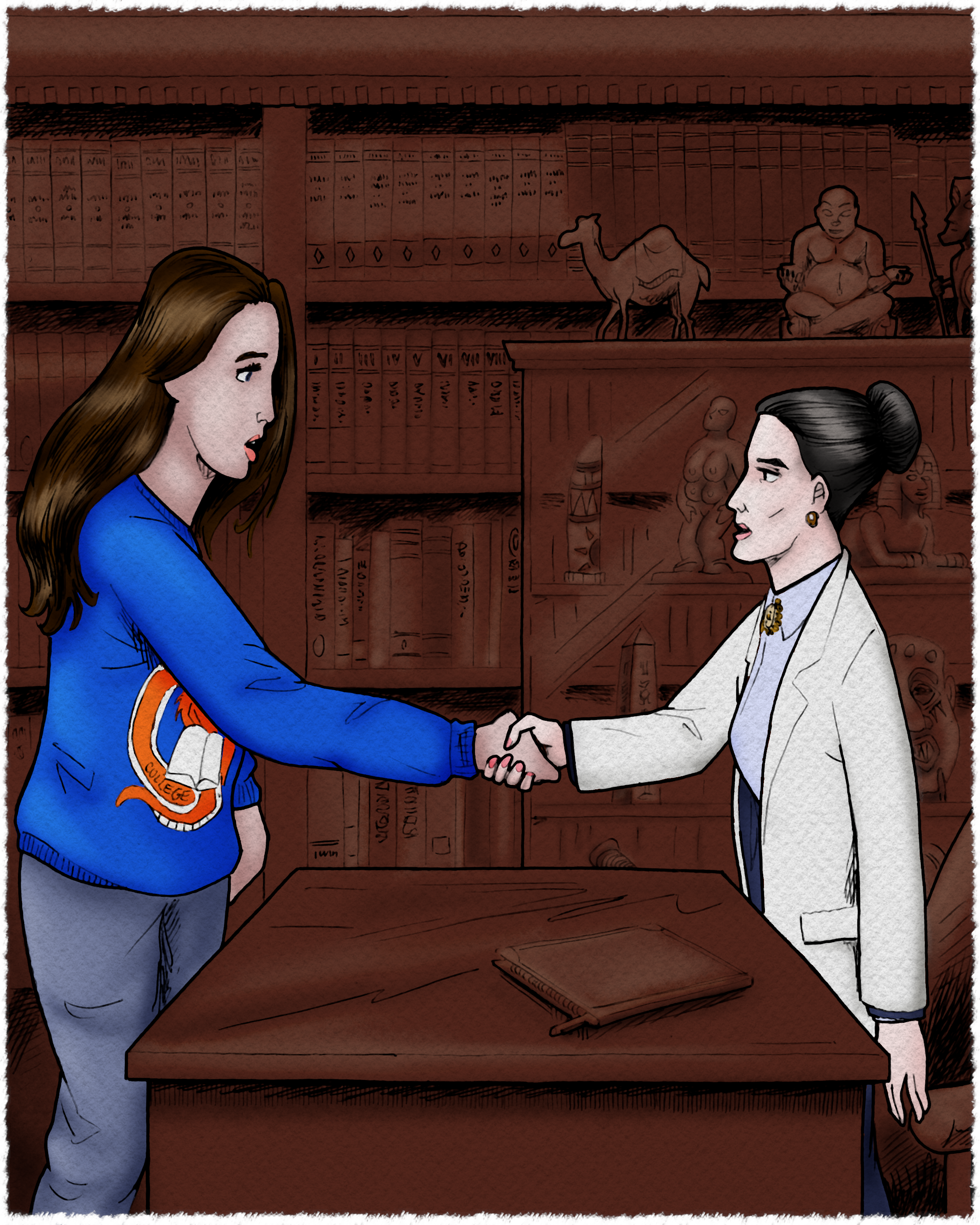 Bryony meets her new therapist, Dr. Gneiss.