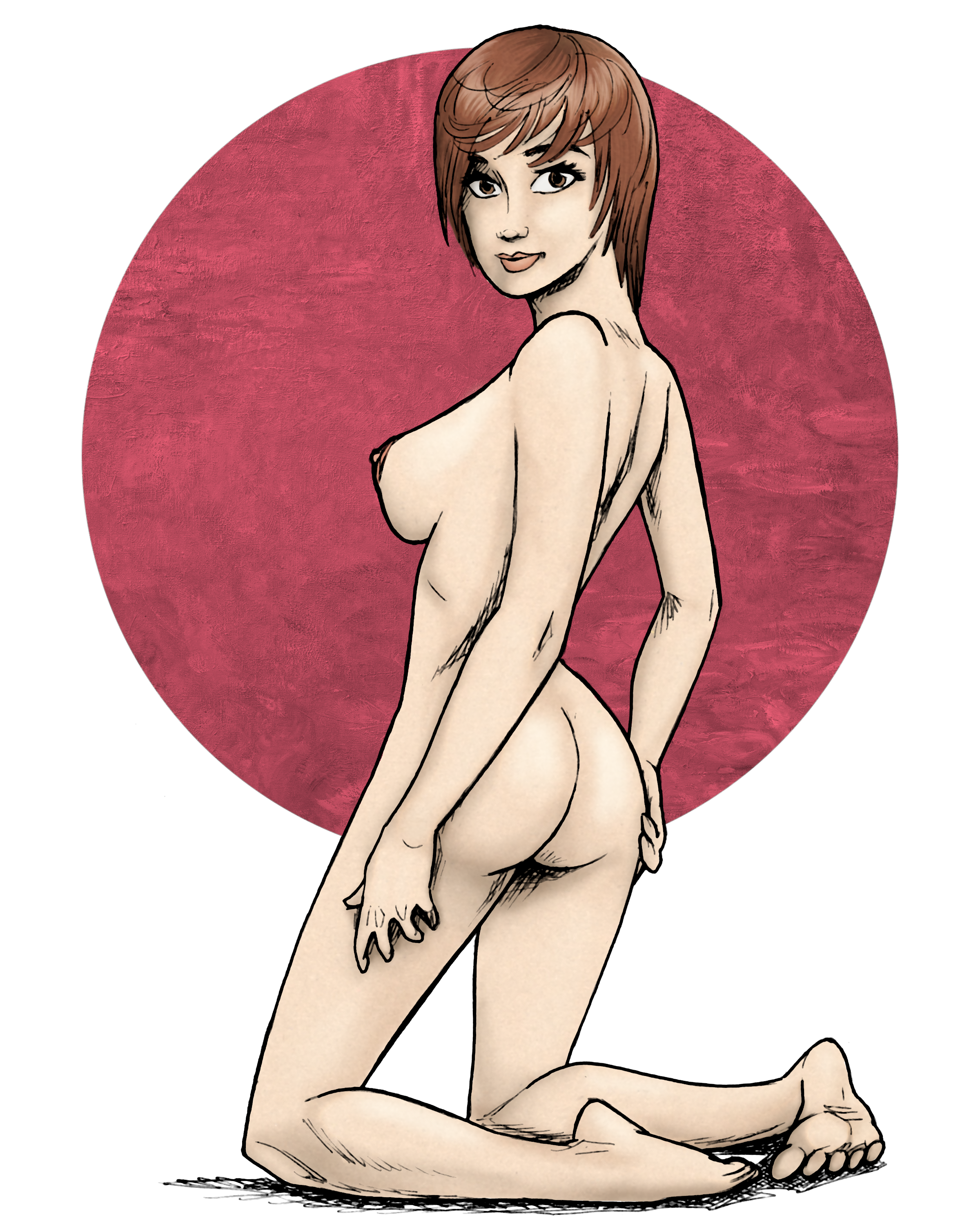 Toozie Chen in-life nude pin-up.