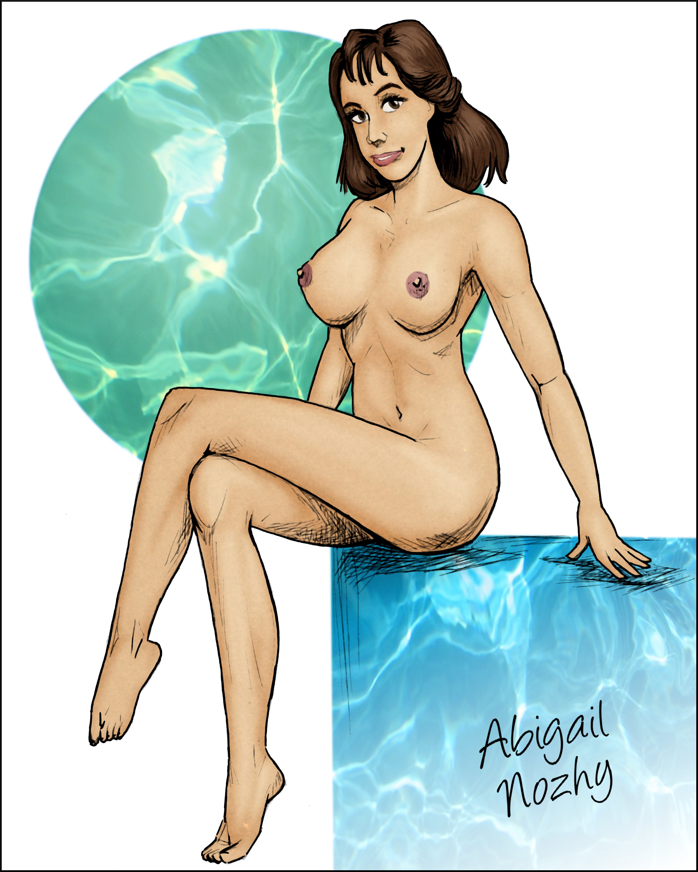 Pinup of Abigail Nozhy